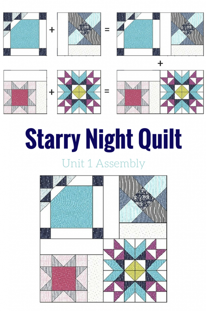 It's time to stitch together our Starry Night Quilt Sampler blocks to complete our quilt top.