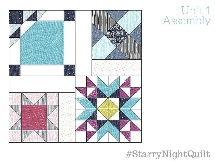 Starry Night Quilt Sampler Final Layout