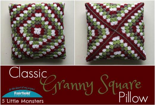 Classic Granny Square Pillow