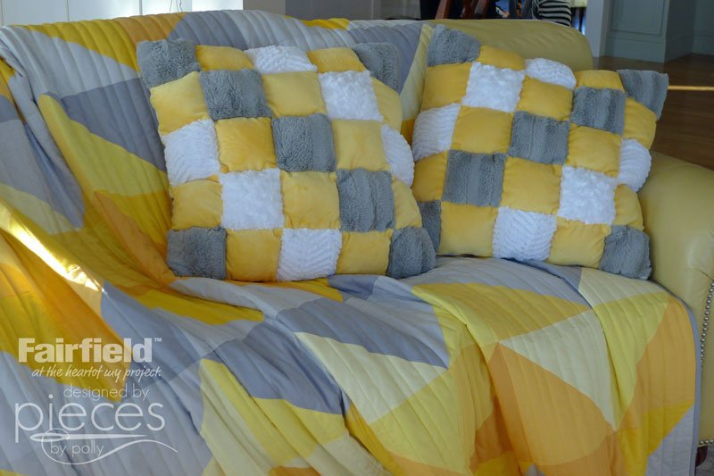 Use Cuddle Scraps and Poly-Fil to make these Easy Puff Pillows.