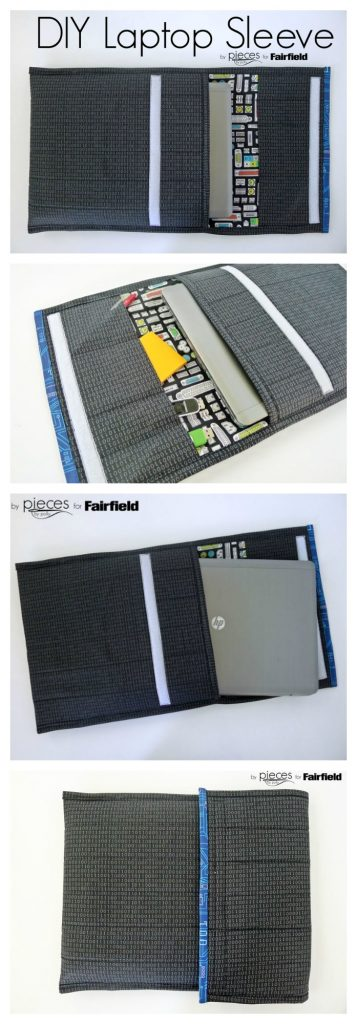 Make your own laptop sleeve to protect your laptop while commuting.