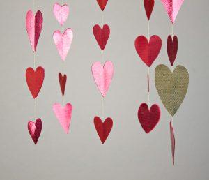 Heart Mobile with Metallic Oly-Fun Fabric