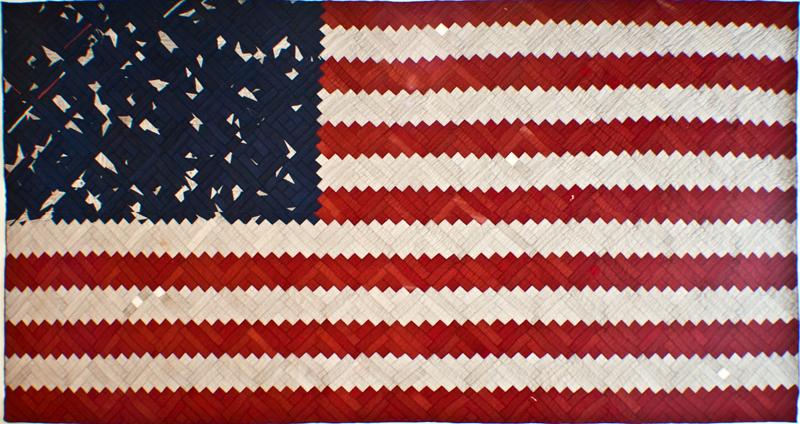 Luke Haynes - americana flag quilt