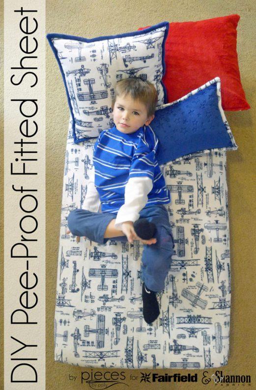 DIY Pee-Proof Fitted Sheet - Crib Sheet - Toddler Sheet