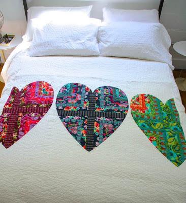 Bright Heart quilt, Amy Butler Design