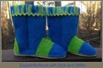 Espadrille Boots with Stick fusible web