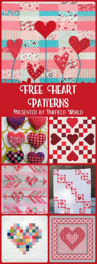 free Heart Patterns quilting sewing appliqué