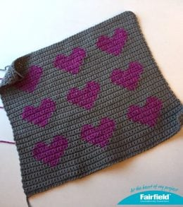 colorwork heart pillow front