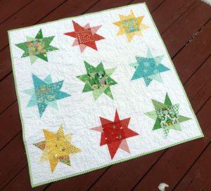 Hideaway Wonky Star quilt e