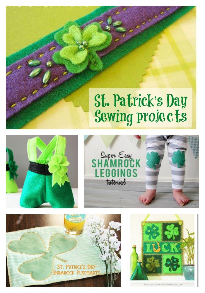 St Patricks day sewing projects
