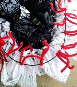 Valentine's Day Ruffled OlyFun Heart Wreath 5
