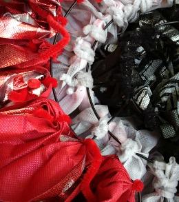 Valentine's Day Ruffled OlyFun Heart Wreath 6