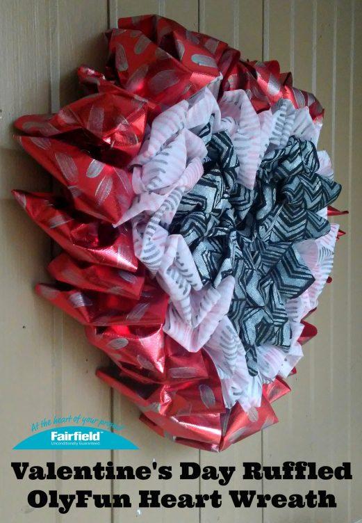 Valentine's Day Ruffled OlyFun Heart Wreath