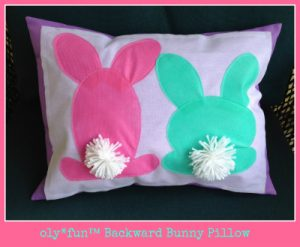 olyfun™ Backward Bunny Pillow