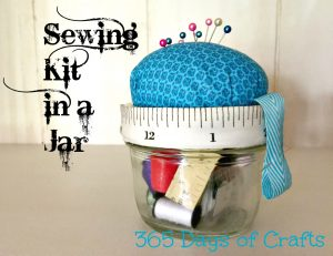 Sewing Kit in a jar gift
