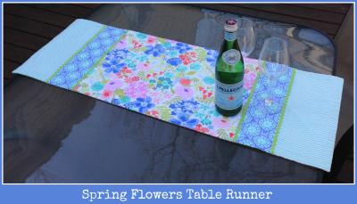 Spring Flowers Table Runner