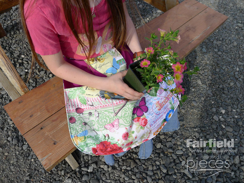 Easy DIY Gathering Apron - Huge Deep pocket for produce, tools, etc
