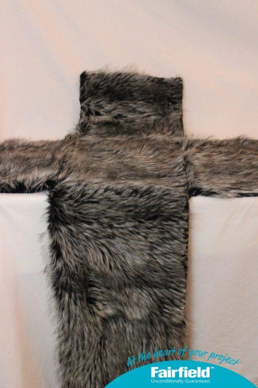 T-shaped Faux Fur Cube