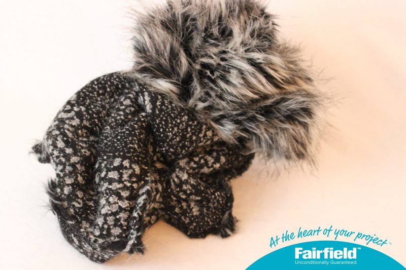 Turn Faux Fur Cube Right Side Out