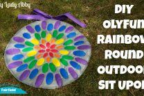 DIY OlyFun Rainbow Round Outdoor Sit Upon