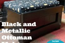 BLACK AND METALLIC OTTOMAN MAKEOVER