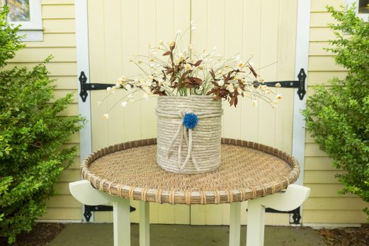 Coiled Woolen Basket