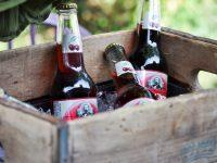 Antique crate turned drink cooler