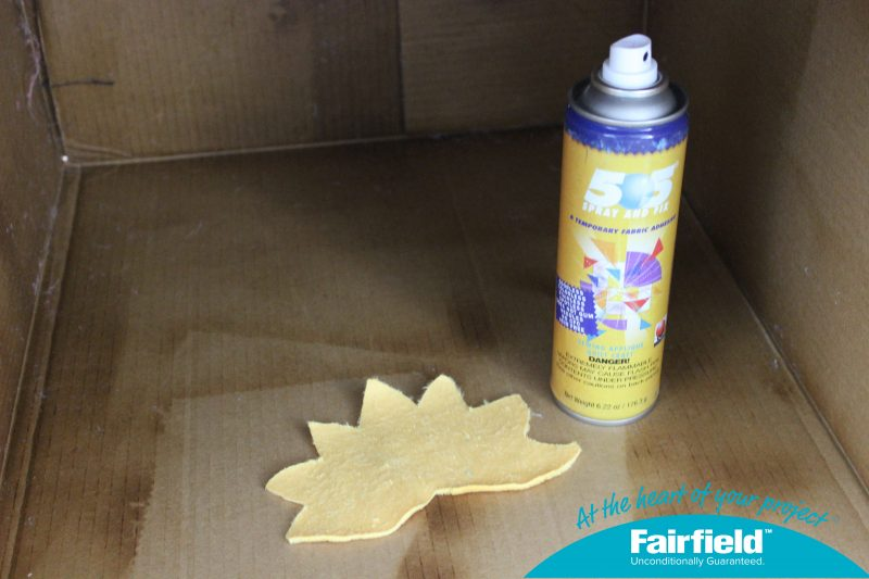 Use a Box to Spray Temporary Adhesive