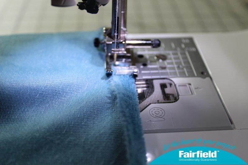 Hem Stitch the Main Fabric