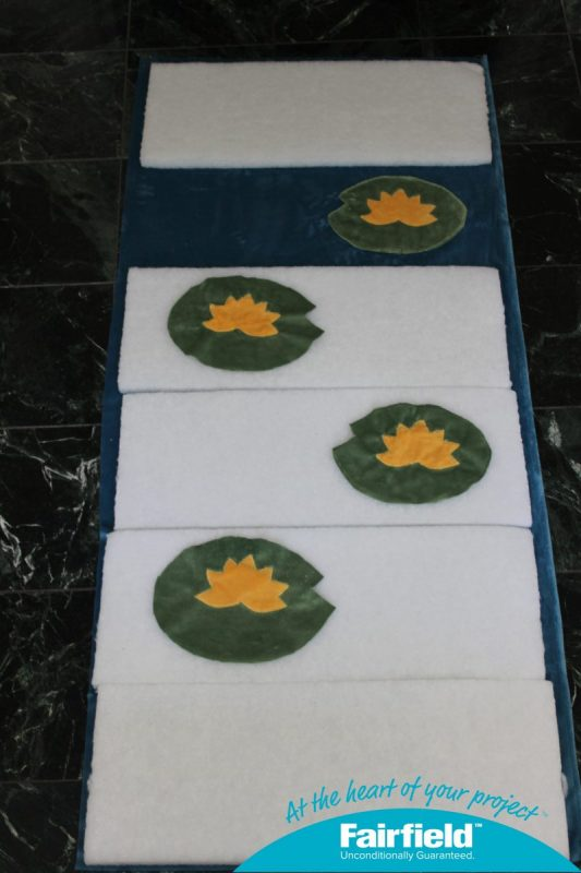 Use Pads to Determine Placement of Lily Pads