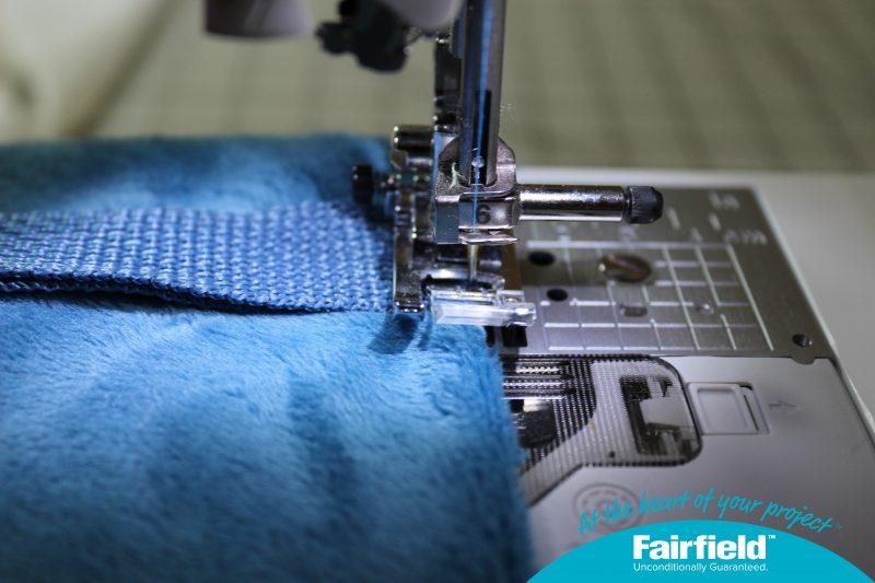 Stitch Straps to Edge of Main fabric