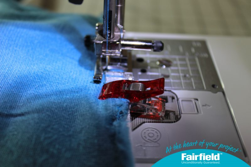 Sew the Shield to the Main Fabric