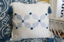 Khir Indigo Tribal Pillow #1