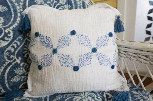 Khir Indigo Tribal Pillow #1