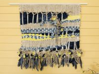 Wall hanging with died batting from PattyWack Deisgns