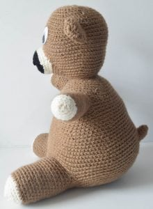 No-Sew Huggable Crochet Pal, free crochet pattern by Underground Crafter for Fairfield World in Red Heart Super Saver yarn