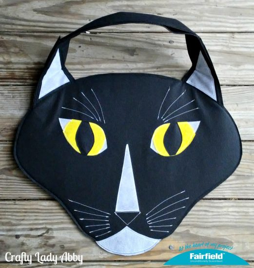 484d0c162a OVERSIZED TUXEDO CAT HEAD TOTE BAG - Fairfield World Craft Projects