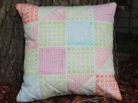 Stamped Faux Quilted Pillow