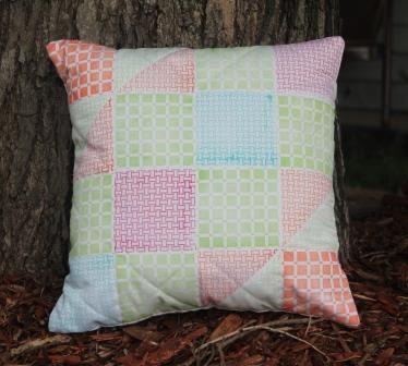 Faux Quilted Pillow Cover