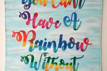 RAINBOW INSPIRATION QUOTE BANNER WALL HANGING