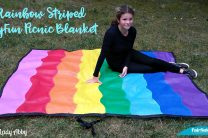 Rainbow Striped OlyFun Picnic Blanket