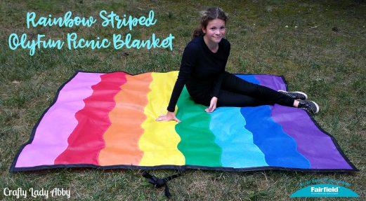 Rainbow Striped OlyFun Picnic Blanket