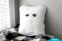 Not-so-spooky Mummy Pillow