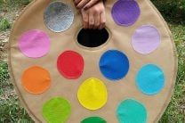 ARTIST PAINT PALETTE OLYFUN TOTE BAG