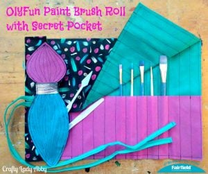 OlyFun Paint Brush Roll with Secret Pocket