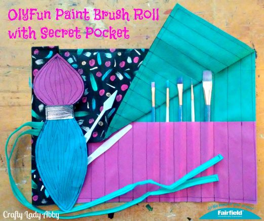 OlyFun Paint Brush Roll with Secret Pocket