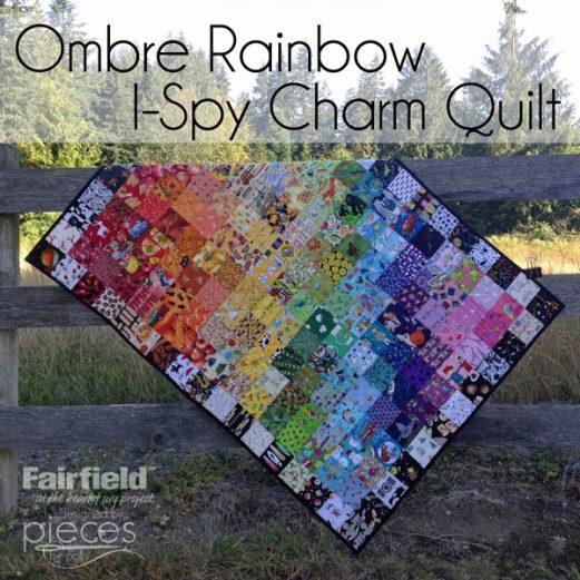 Rainbow Ombre Quilt - I-Spy Quilt
