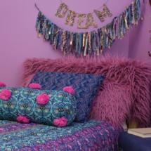 Bohemian bed - close up