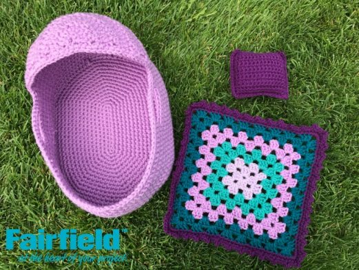 Crocheted Baby Doll Bed Set