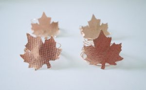 Rose Gold Fairfield Oly*Fun Napkin Rings for Fall Decor